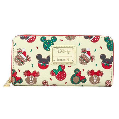 Mickey and Minnie Christmas Cookies Zip-Around Wallet