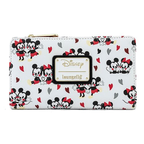 Mickey and Minnie Mouse Hearts Flap Wallet