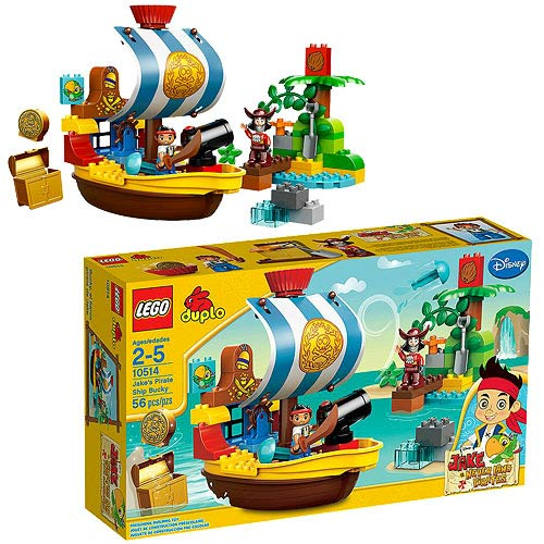 LEGO DUPLO Never Land Pirates 10514 Jake's Pirate Ship Bucky