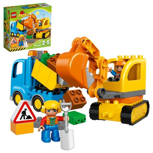 LEGO DUPLO Town 10812 Truck and Tracked Excavator