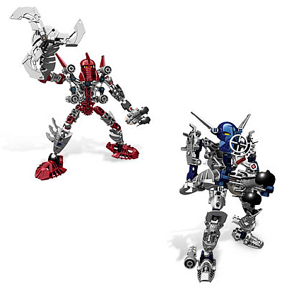 Bionicle Toa Gali and Toa Tahu Set