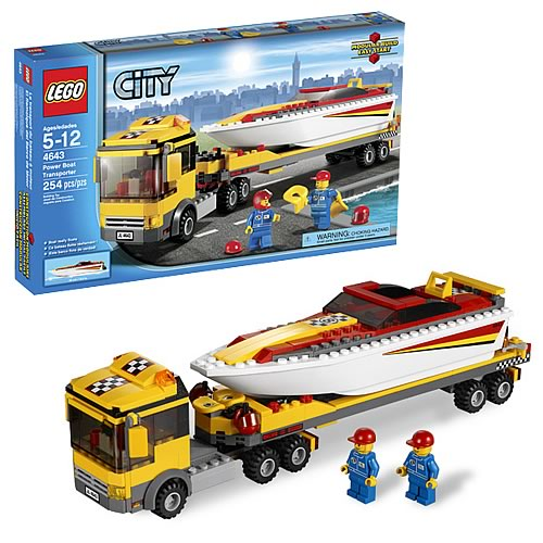Lego city 4643 power boat transporter case lego lego for Case lego city