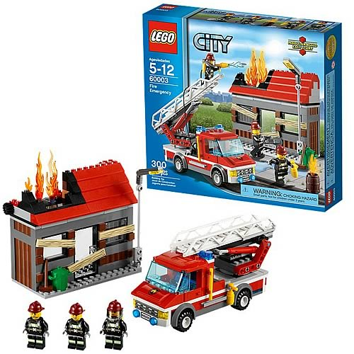 Lego City Toys : Lego city fire emergency set