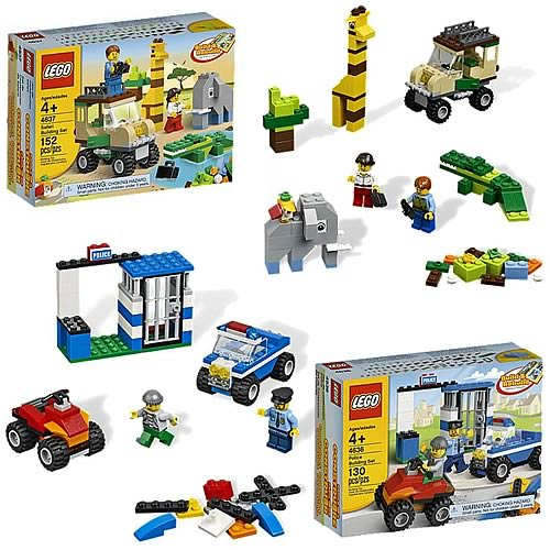 LEGO Bricks & More 4636 Police and 4637 Safari Set