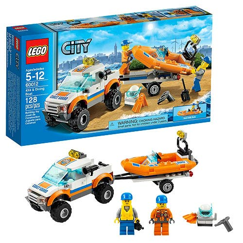 LEGO City Coast Guard 60012 4x4 & Diving Boat