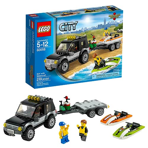 LEGO City 60058 SUV with Watercraft
