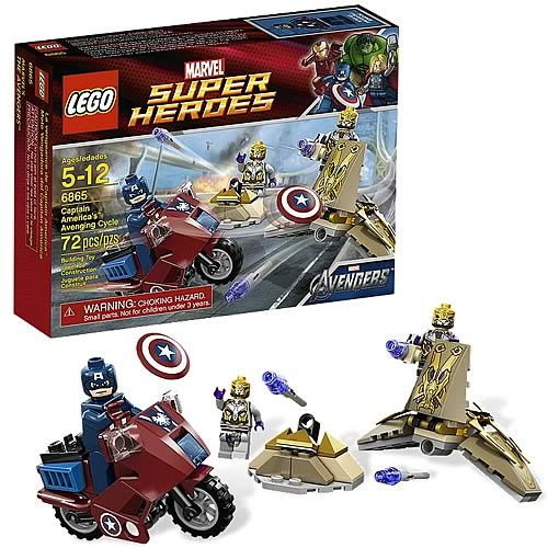 LEGO Marvel 6865 Avengers Captain America's Avenging Cycle