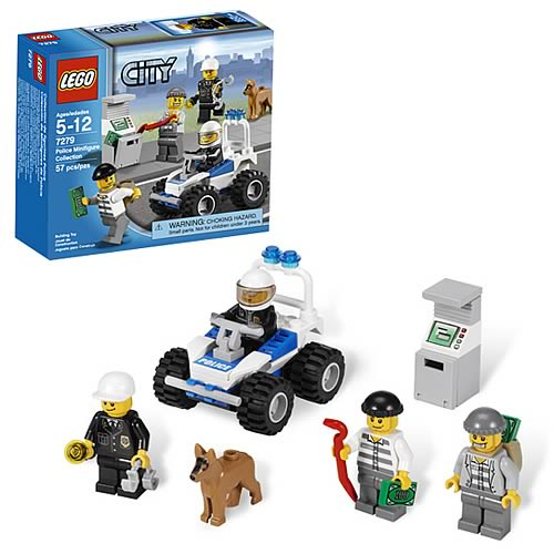 Lego city 7279 police minifigure collection case lego for Case lego city