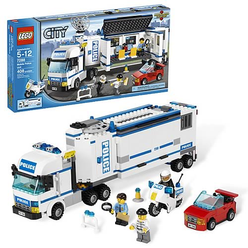Lego city 7288 mobile police unit case lego lego city for Case lego city
