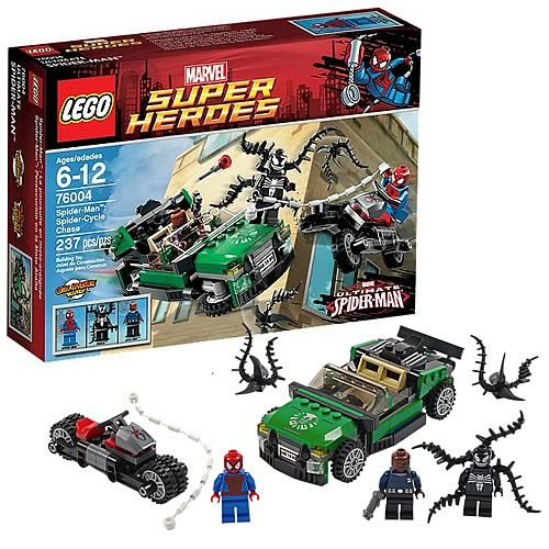 LEGO Marvel 76004 Spider-Man Spider-Cycle Chase