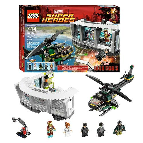LEGO Iron Man 76007 Iron Man Malibu Mansion Attack
