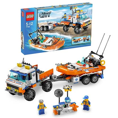 LEGO 7726 City Coast Guard Truck with Speed Boat