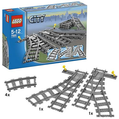 LEGO 7895 City Trains Switch Tracks
