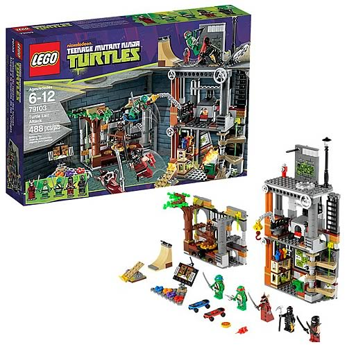 Image du Set LEGO promotion TMNT 79103 - Turtle lair attack