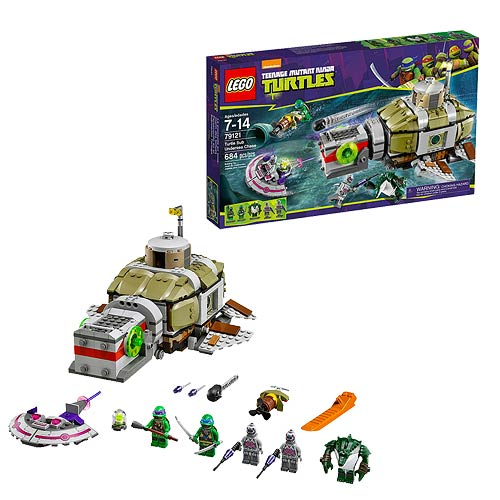 Lego Teenage Ninja Turtles Toys : Lego tmnt turtle sub undersea chase teenage