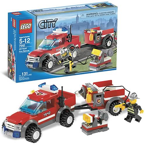 LEGO 7942 City Fire Pick-up Truck