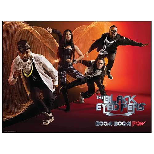 Black Eyed Peas Boom Boom Pow Fabric Poster Wall Hanging