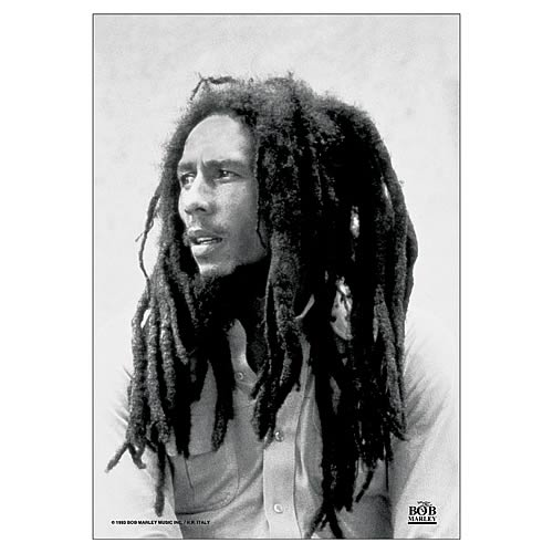 Bob Marley Black and White Fabric Poster Wall Hanging
