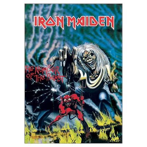 Iron Maiden Number of the Beast Fabric Poster Wall Hanging