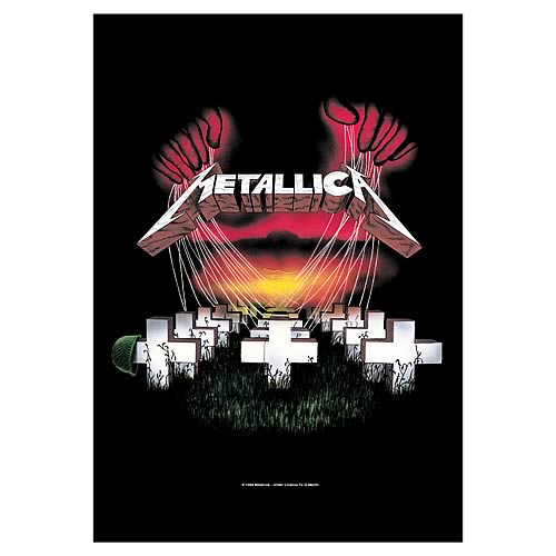Metallica Master of Puppets Fabric Poster Wall Hanging