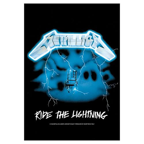 Metallica Ride the Lightning Fabric Poster Wall Hanging