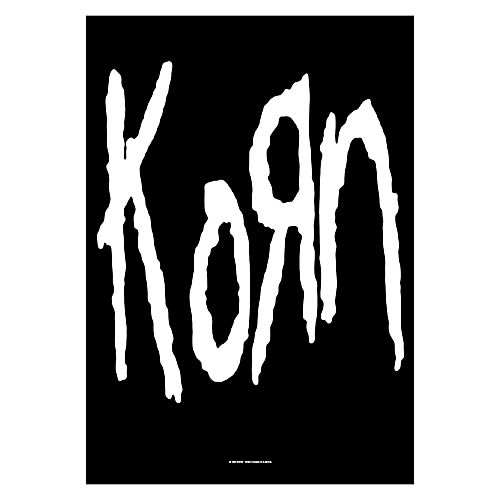 Korn Black and White Fabric Poster Wall Hanging