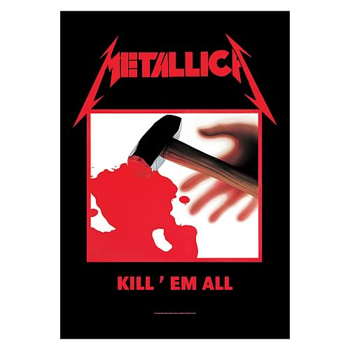 Metallica Kill Em All Fabric Poster Wall Hanging