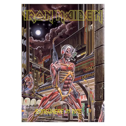 Iron Maiden Somewhere in Time Fabric Poster Wall Hanging ...