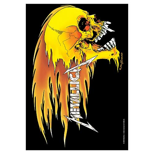 Metallica Skull and Flame Fabric Poster Wall Hanging
