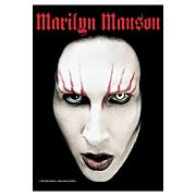 Marilyn Manson Head Shot Fabric Poster Wall Hanging