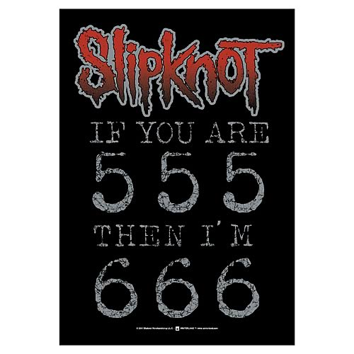 Slipknot 666 Fabric Poster Wall Hanging