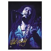 Bob Marley Blue Fabric Poster Wall Hanging