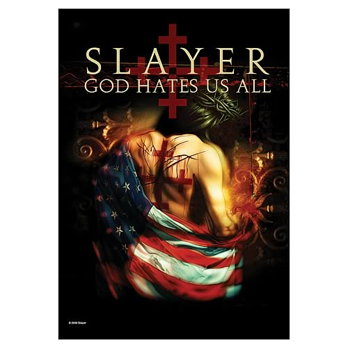 Slayer God Hates Us All Fabric Poster Wall Hanging
