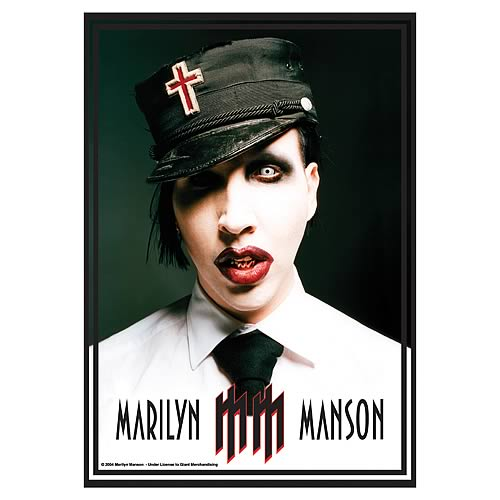 Marilyn Manson Uniform Fabric Poster Wall Hanging