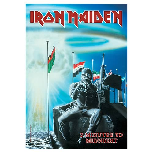 Iron Maiden 2 Minutes to Midnight Fabric Poster Wall Hanging