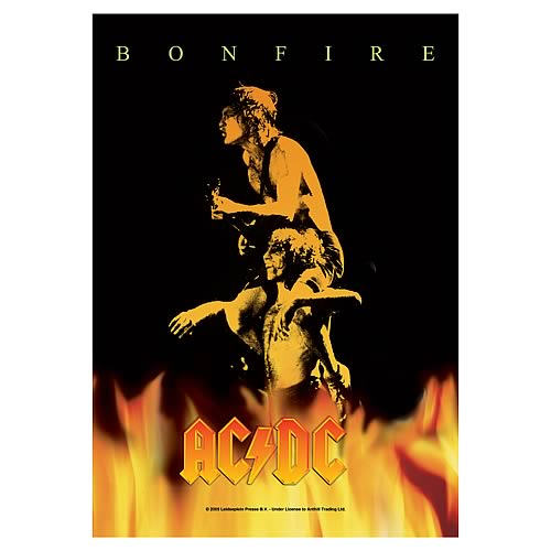 AC/DC Bonfire Fabric Poster Wall Hanging