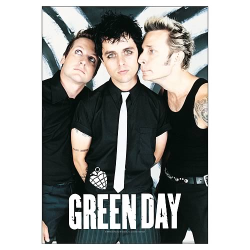 Green Day Band Fabric Poster Wall Hanging
