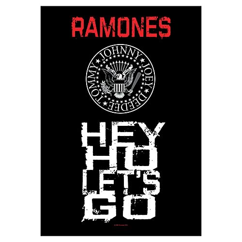 Ramones Hey Ho Let's Go Fabric Poster Wall Hanging