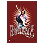 Jimi Hendrix Red Fabric Poster Wall Hanging