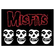 Misfits Multiple Classic Skull Fabric Poster Wall Hanging