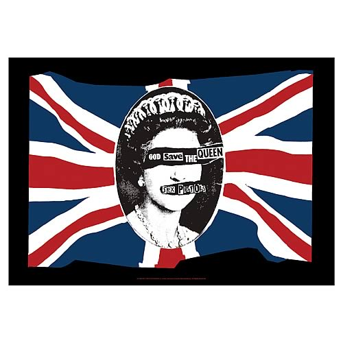 Sex Pistols God Save The Queen Fabric Poster Wall Hanging