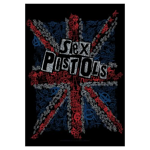 Sex Pistols Anarchy Vintage Fabric Poster Wall Hanging