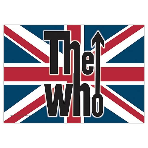 The Who British Flag Fabric Poster Wall Hanging