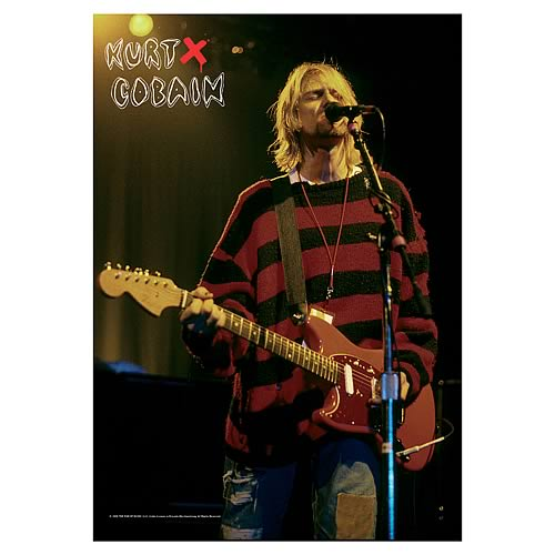 Kurt Cobain Stage Fabric Poster Wall Hanging