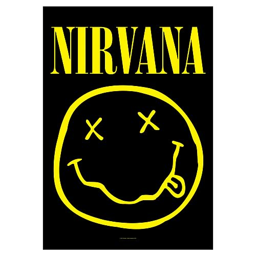 Nirvana Smiley Face Fabric Poster Wall Hanging