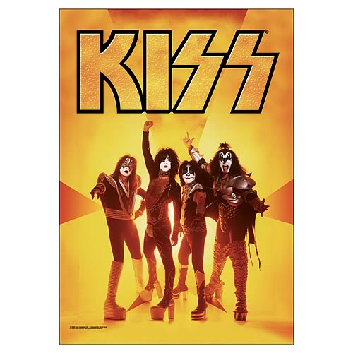 KISS Gold Fabric Poster Wall Hanging