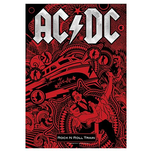 AC/DC Rock and Roll Train Fabric Poster Wall Hanging