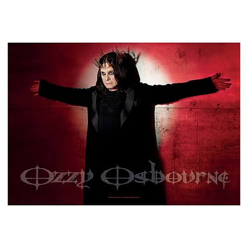 Ozzy Osbourne Christ Fabric Poster Wall Hanging