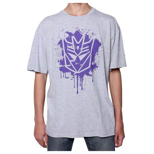 Transformers Decepticon Stencil Grey T-Shirt