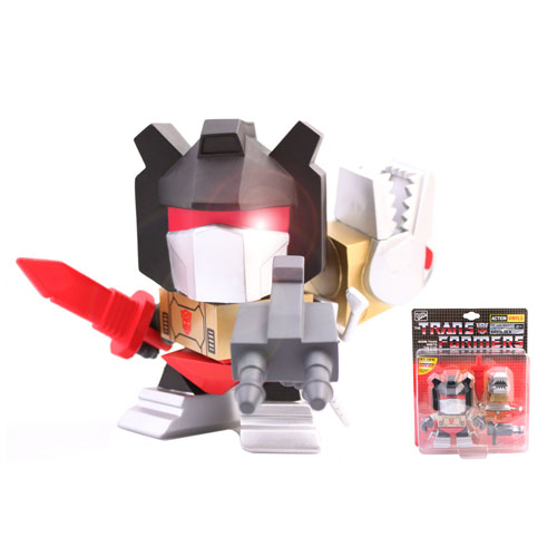 Transformers Grimlock with Dino Head Vinyl Figure
